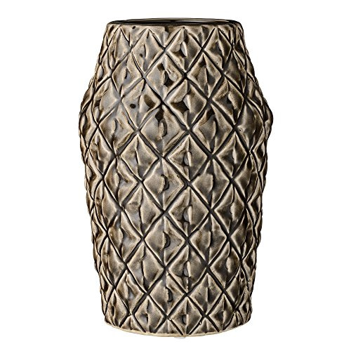 Bloomingville Vase Square Structure dark chocolate M
