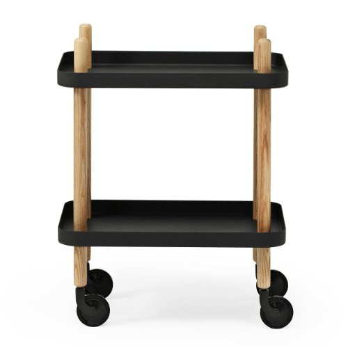 Normann Copenhagen Servierwagen Block Table Schwarz