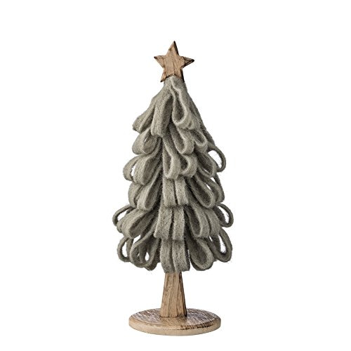 Deco. Tree, Nature w/Dusty Green Felt Ø12xH36 cm