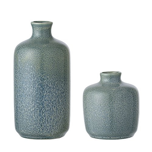 Bloomingville Vase, Multi-Color, Stoneware Ø6,5xH7,5 / Ø6,5xH13,5 cm, Set of 2